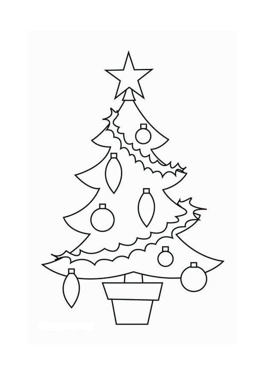 Kleurplaat Kale Kerstboom Disegno Da Colorare Albero Di Natale Cat 16537