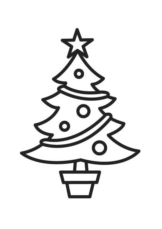 Disegno Da Colorare Albero Di Natale Cat 18524