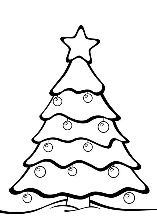 Disegno Da Colorare Albero Di Natale Cat 28163