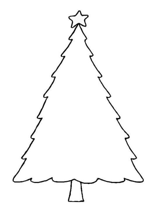 Disegno Da Colorare Albero Di Natale Cat 8654