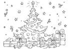 Disegno da colorare albero di Natale