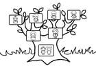 Disegno da colorare albero genealogico