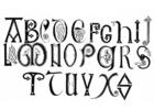 Disegno da colorare alfabeto anglosassone secolo 8 e 9
