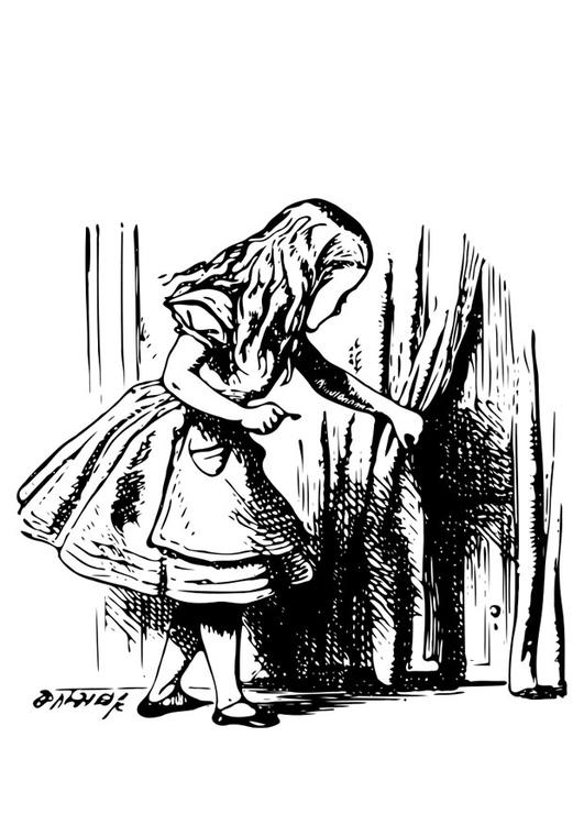 Disegno Da Colorare Alice Nel Paese Delle Meraviglie Alice Con La