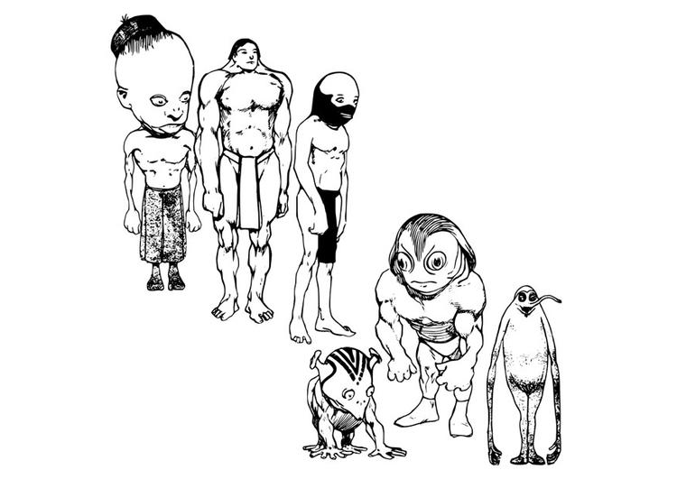 Disegno Da Colorare Alieni Cat 22895