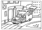 Disegno da colorare ambulanza