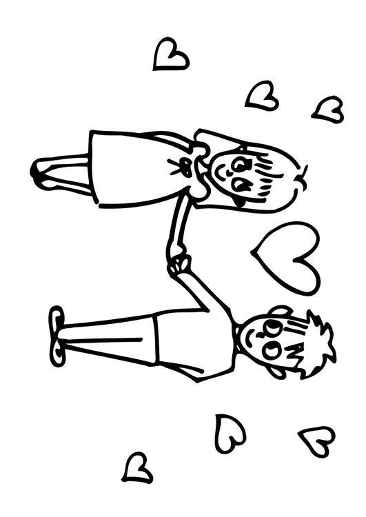 Disegno Da Colorare Amore Cat 20623 Images
