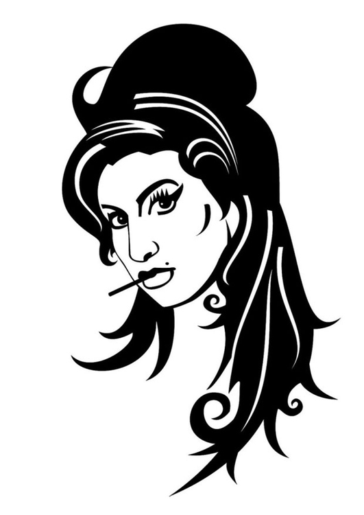 Disegno da colorare Amy Winehouse