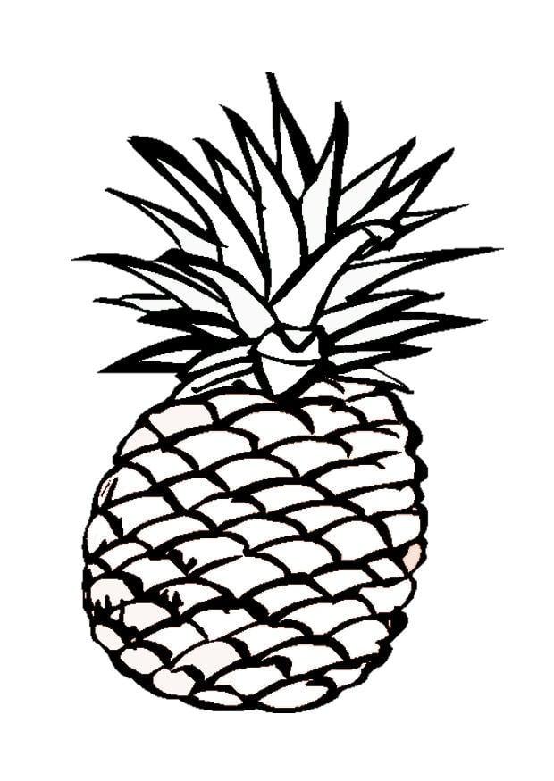 Disegno Da Colorare Ananas Cat 9547 Images
