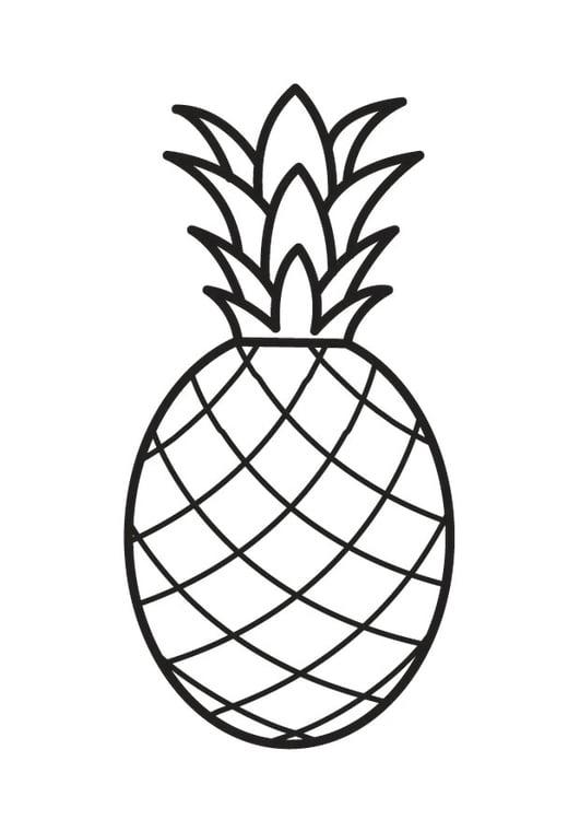 Disegno Da Colorare Ananas Cat 23170