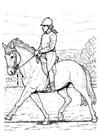 Disegno da colorare andare a cavallo
