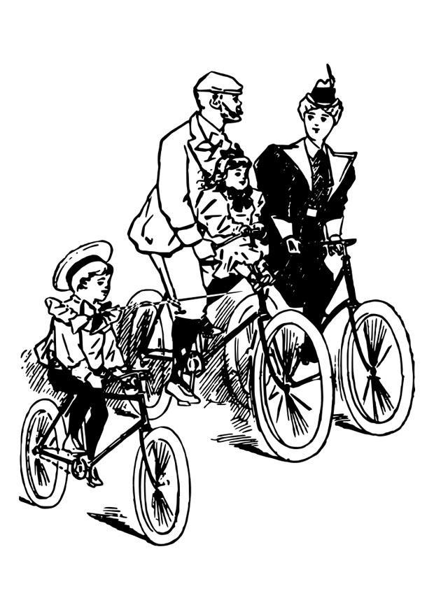 Disegno da colorare andare in bicicletta disegni da for Bicicletta immagini da colorare
