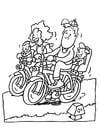 Disegno da colorare andare in bicicletta