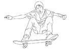 Disegno da colorare andare sullo skateboard