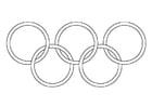 Disegno da colorare anelli olimpici