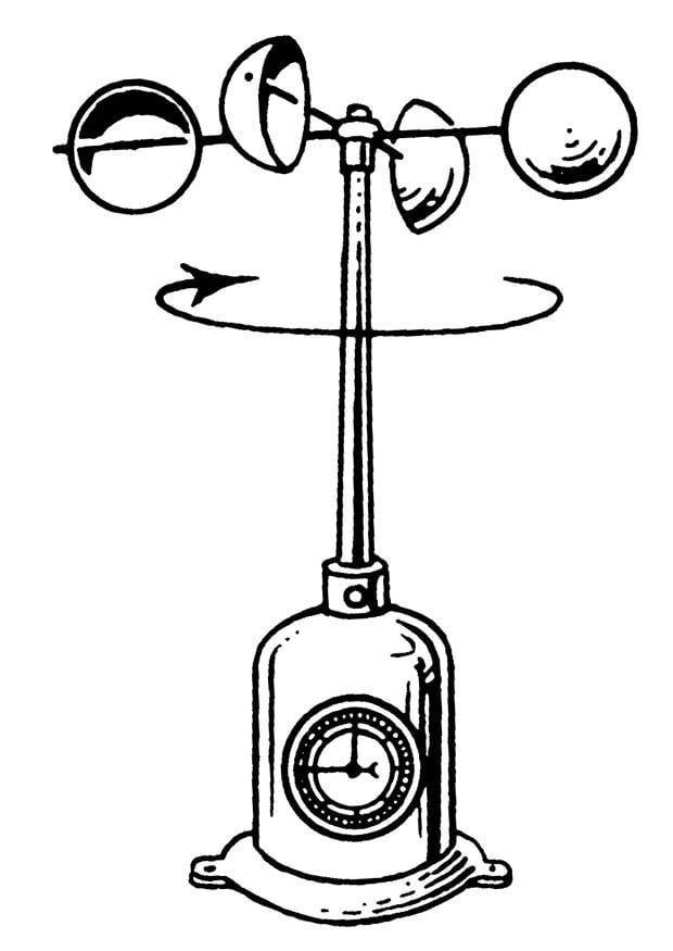 disegno da colorare anemometro