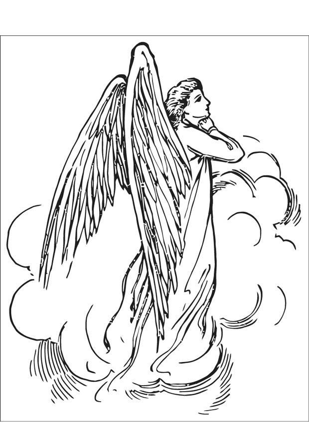 Disegno Da Colorare Angelo Cat 16595 Images