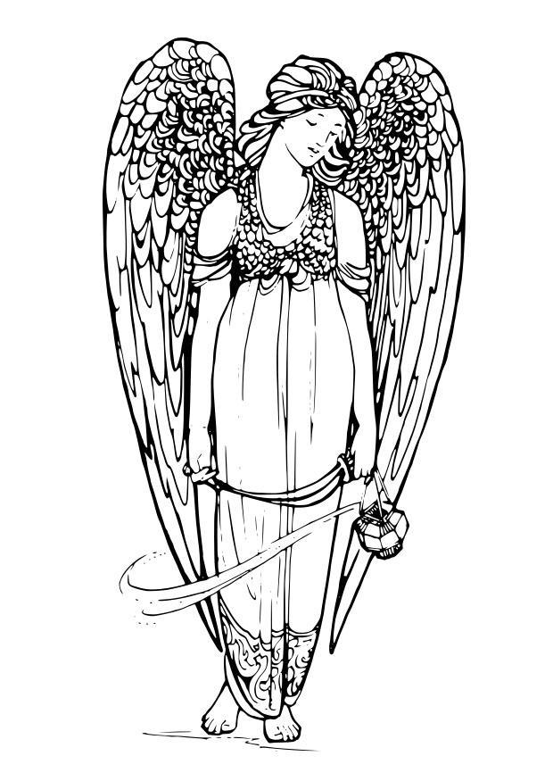 disegno da colorare angelo  cat 29144