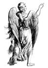 Disegno da colorare angelo
