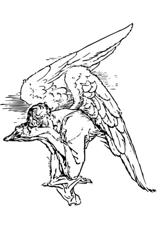 Disegno Da Colorare Angelo Triste Cat 17367 Images