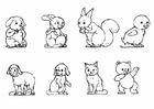Disegno da colorare animali - collezione