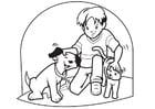 Disegno da colorare animali domestici - cane