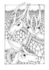 Disegno da colorare animali fantastici