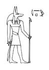 Disegno da colorare Anubis