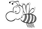Disegno da colorare ape