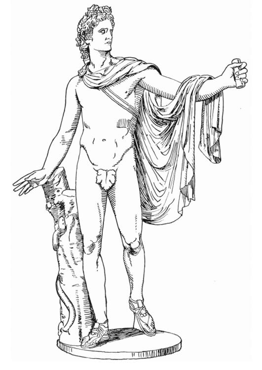 Disegno Da Colorare Apollo Dio Greco Cat 18611
