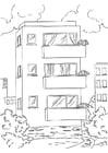 Disegno da colorare appartamento