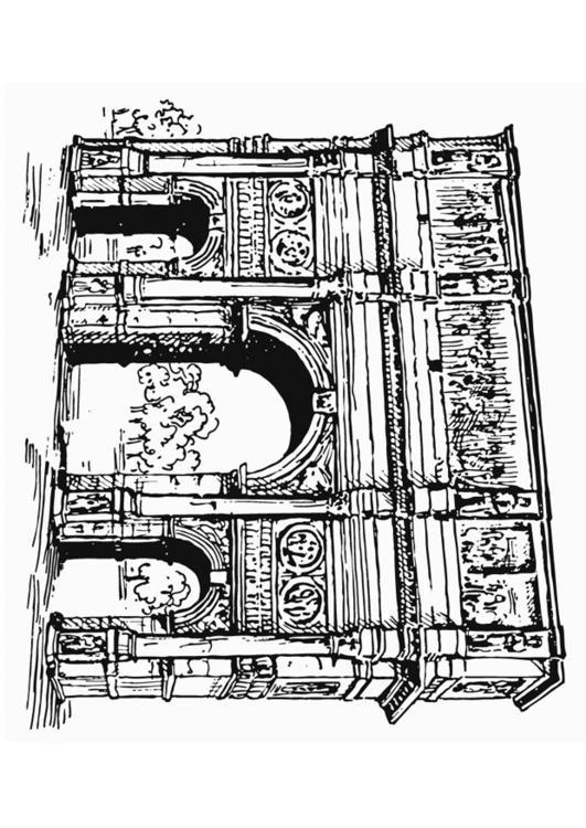 Disegno Da Colorare Arco Di Costantino Roma Cat 13220