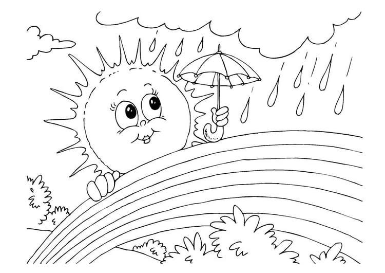 Disegno Da Colorare Arcobaleno Cat 22606