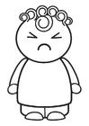 Disegno da colorare arrabbiato
