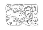 Disegno da colorare Arte maya