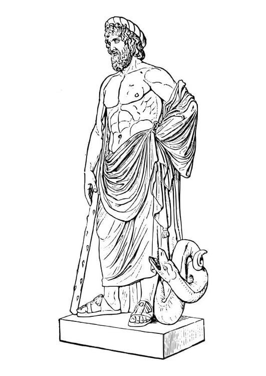 Disegno Da Colorare Asclepio Cat 18620