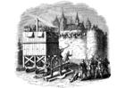 Disegno da colorare assalto al castello