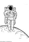 Disegno da colorare astronauta