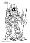 Disegno da colorare astronauto