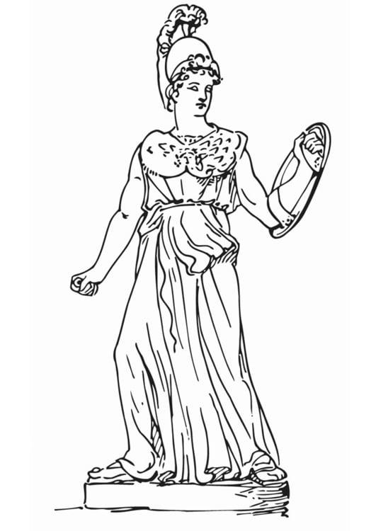 Disegno Da Colorare Atena Cat 18621