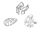 Disegno da colorare attrezzi primitivi