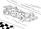 Disegno da colorare auto da corsa Formula 1
