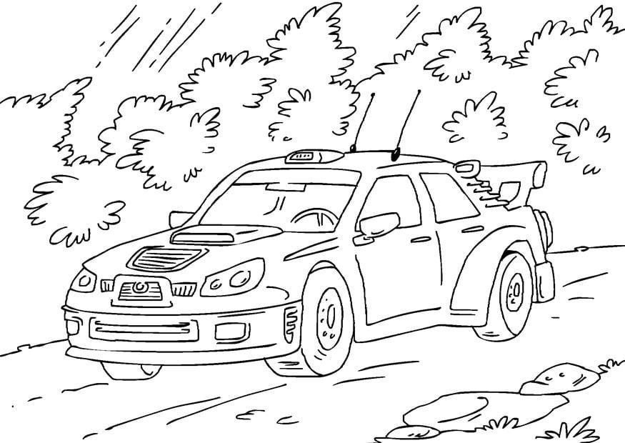 Disegno da colorare auto da rally - Cat. 27170.
