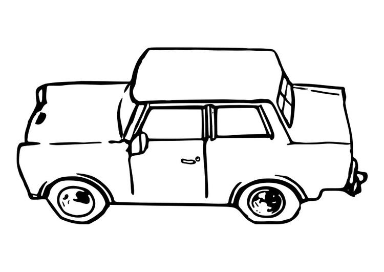 Disegno Da Colorare Auto Trabant Cat 29109