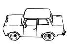 Disegno da colorare auto - trabant