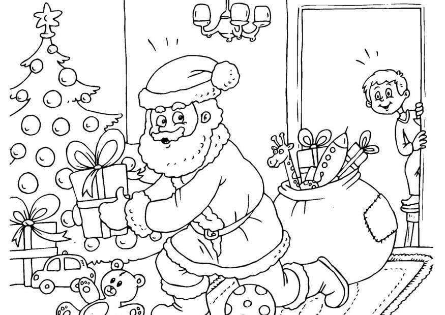 Disegno Da Colorare Babbo Natale Cat 23387