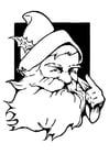 Disegno da colorare Babbo Natale