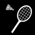 Disegno da colorare badminton