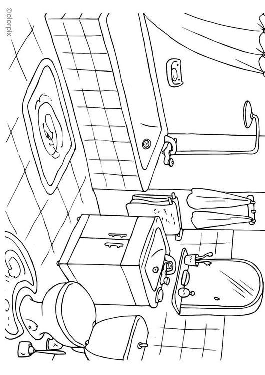 Disegno da colorare bagno - Cat. 25994.