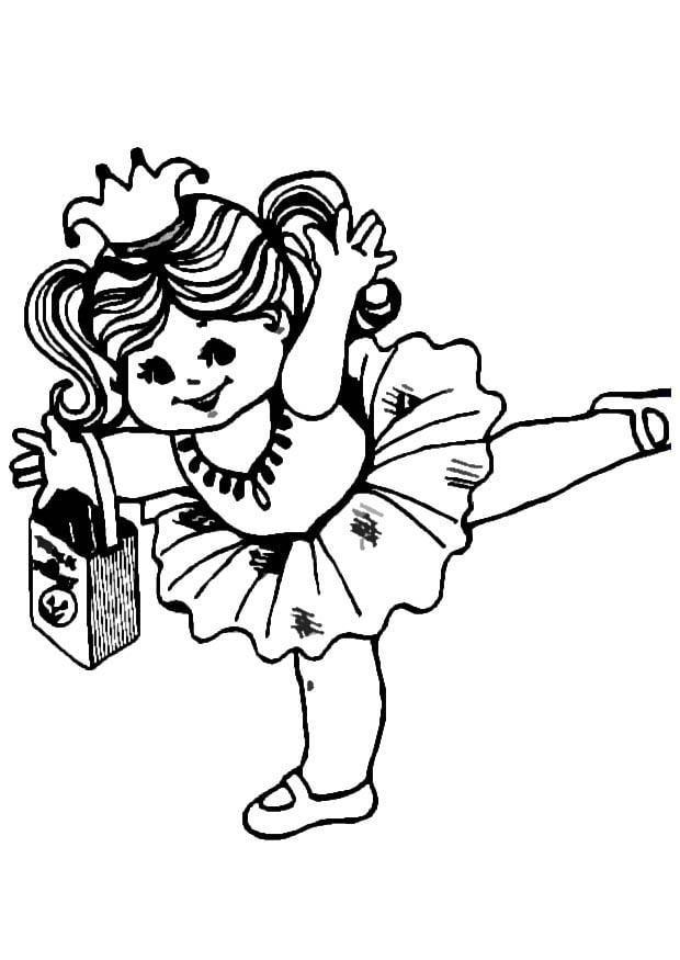 Disegno Da Colorare Ballerina Cat 8609 Images